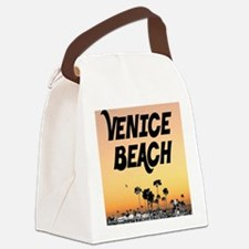 Venice Beach Boardwalk Sunset Canvas Lunch Bag