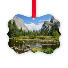 Valley View in Yosemite National  Picture Ornament