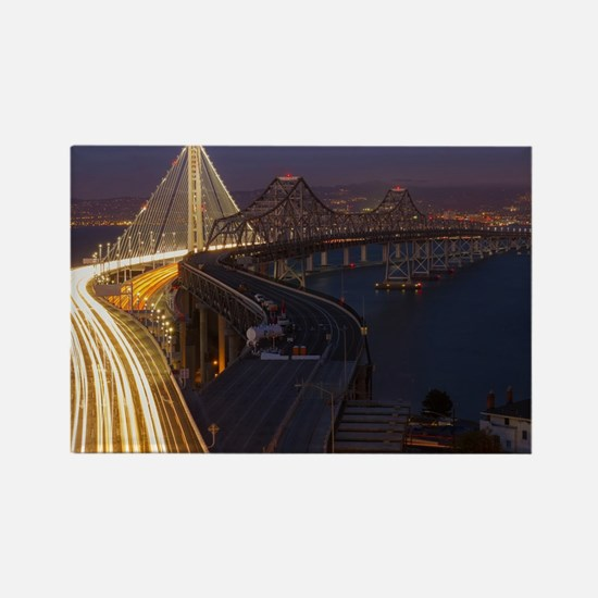 San Francisco–Oakland Bay Bridge Rectangle Magnet