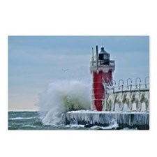Lighthouse at South Haven Postcards (Package of 8)