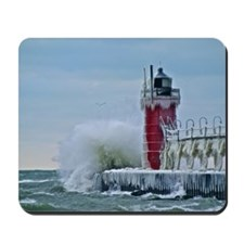 Lighthouse at South Haven Harbor, Michig Mousepad