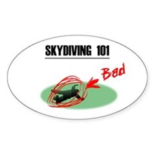 Skydiving 101 Oval Decal