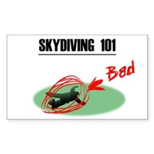 Skydiving 101 Rectangle Decal