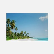 Maldives beach Rectangle Magnet