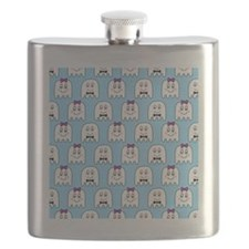 shower ghost couple blue Flask