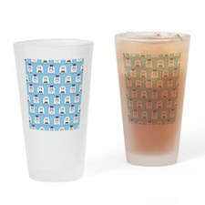 shower ghost couple blue Drinking Glass