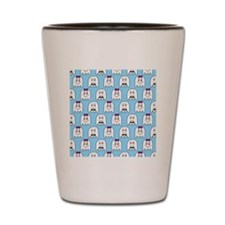 shower ghost couple blue Shot Glass