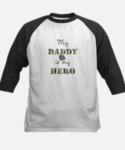 My Daddy Is My Hero Kids Baseball Jersey