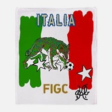 Italy Quest for Brazil World Cup of  Throw Blanket