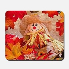 Autumn scarecrow Mousepad