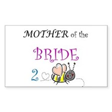 Mother of the Bride 2 Bee Rectangle Decal