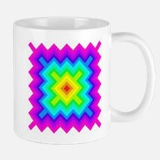 Rainbow Chevron Granny Sqare Mugs