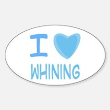 Blue I Heart (Love) Whining Oval Decal