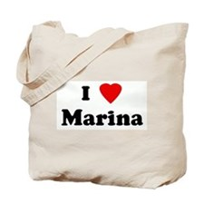 I Love Marina Tote Bag