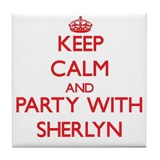 Keep Calm and Party with Sherlyn Tile Coaster