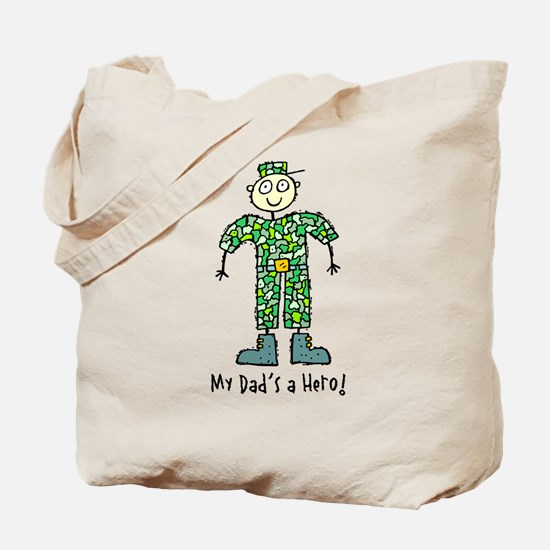 My Dad's a Hero Army Tote Bag