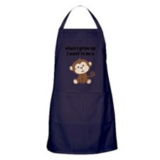 Grow Up to Be a Monkey Apron (dark)