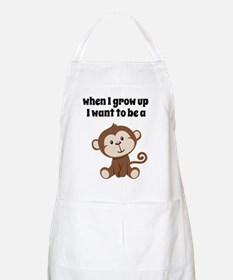 Grow Up to Be a Monkey Apron