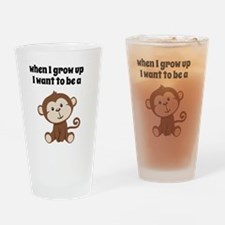 Grow Up to Be a Monkey Drinking Glass