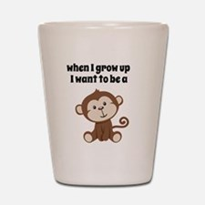 Grow Up to Be a Monkey Shot Glass