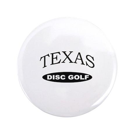 """Texas Disc Golf 3.5"""" Button"""