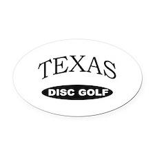 Texas Disc Golf Oval Car Magnet