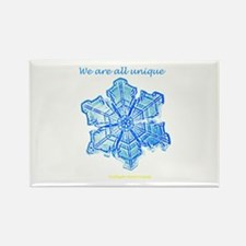 Snowflake Rectangle Magnet