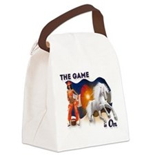The Football Game is On Canvas Lunch Bag
