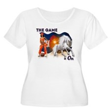 The Football Game is On Plus Size T-Shirt