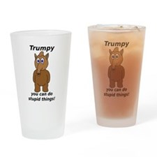 Trumpy 1 Drinking Glass