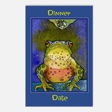 Dinner Date -Frog Postcards (Package of 8)