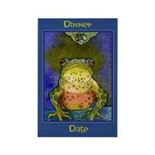 Dinner Date -Frog Rectangle Magnet