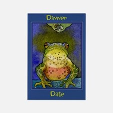 Dinner Date -Frog Rectangle Magnet