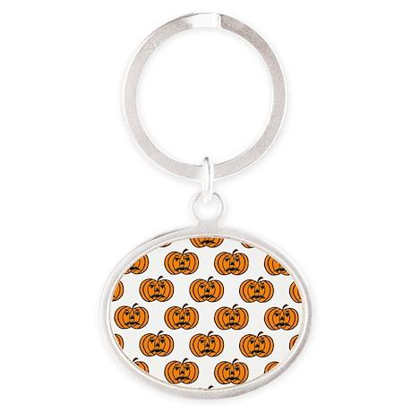 Pumpkins Oval Keychain