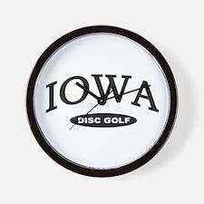 Iowa Disc Golf Wall Clock