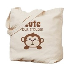 Cute But Trouble Monkey Tote Bag