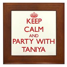 Keep Calm and Party with Taniya Framed Tile