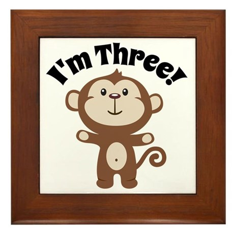 Monkey Im 3 Framed Tile