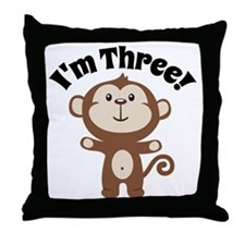 Monkey Im 3 Throw Pillow