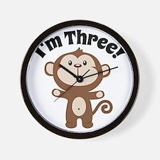 Monkey Im 3 Wall Clock