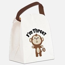 Monkey Im 3 Canvas Lunch Bag