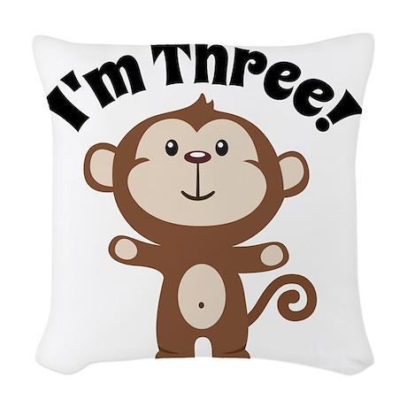 Monkey Im 3 Woven Throw Pillow