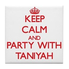 Keep Calm and Party with Taniyah Tile Coaster