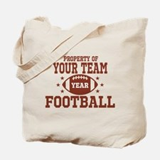 Personalized Property of Your Team Football Tote B