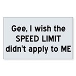 Speed Limit Sticker (Rectangle 10 pk)