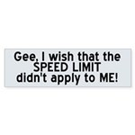 Speed Limit (wide) Sticker (Bumper 10 pk)
