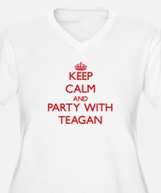 Keep Calm and Party with Teagan Plus Size T-Shirt