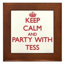 Keep Calm and Party with Tess Framed Tile