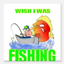 "FISHING.png Square Car Magnet 3"" x 3"""