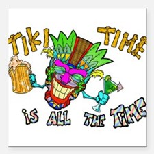 "Tike Time is all the Time Square Car Magnet 3"" x 3"